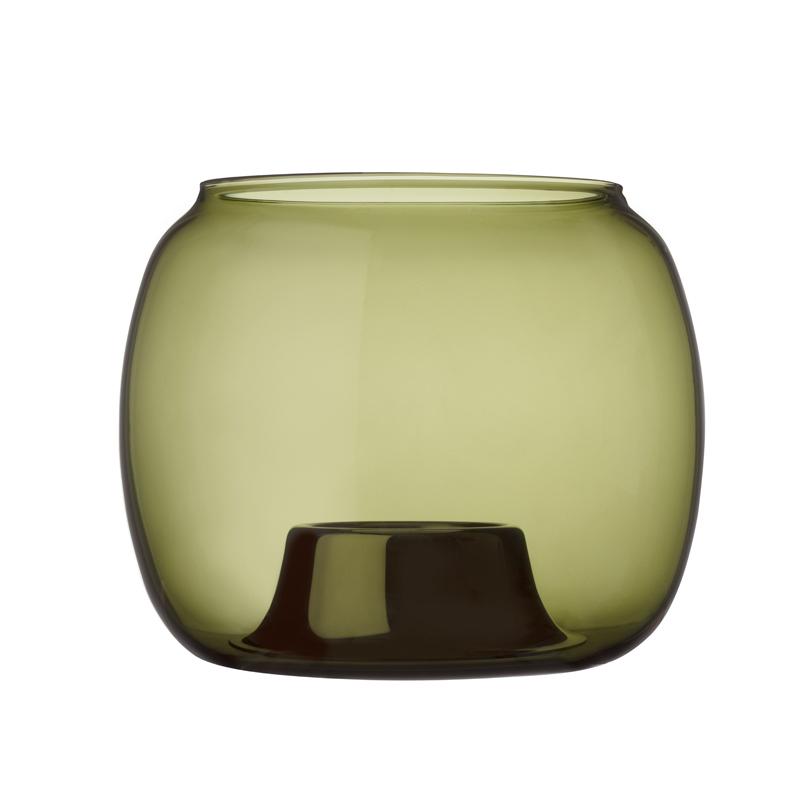 Windlicht – 14,1 x 11,5 cm – Moosgrün Aalto Iittala