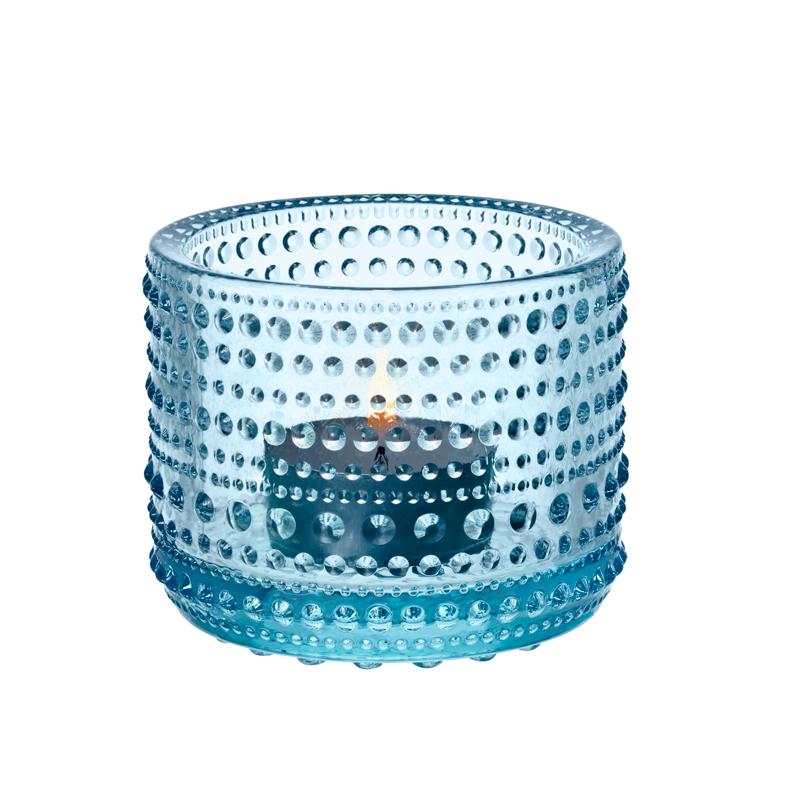 Windlicht – 6,4 cm - Hellblau Kastehelmi Iittala