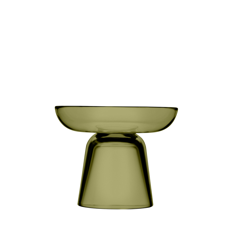 Säulen-Kerzenständer – 10,7 cm - moosgrün Nappula Iittala