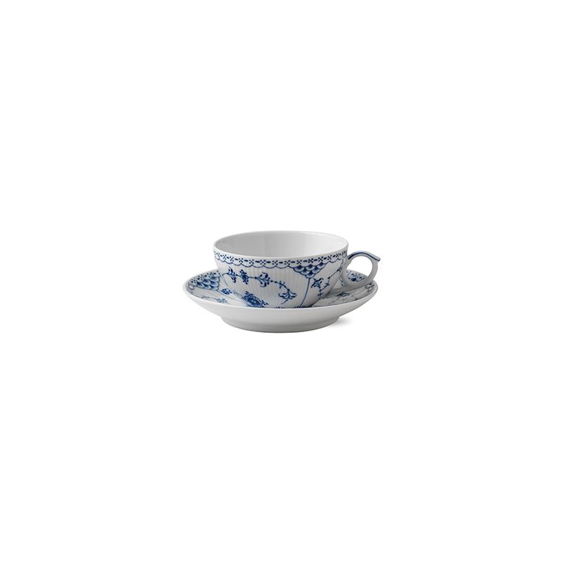 Tasse mit Untertasse - 200 ml Blue Fluted Half Lace Royal Copenhagen