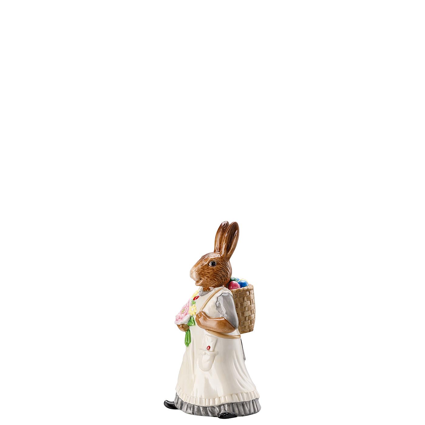 Hasenfrau mit Korb Hasenfiguren Dekoriert Hutschenreuther