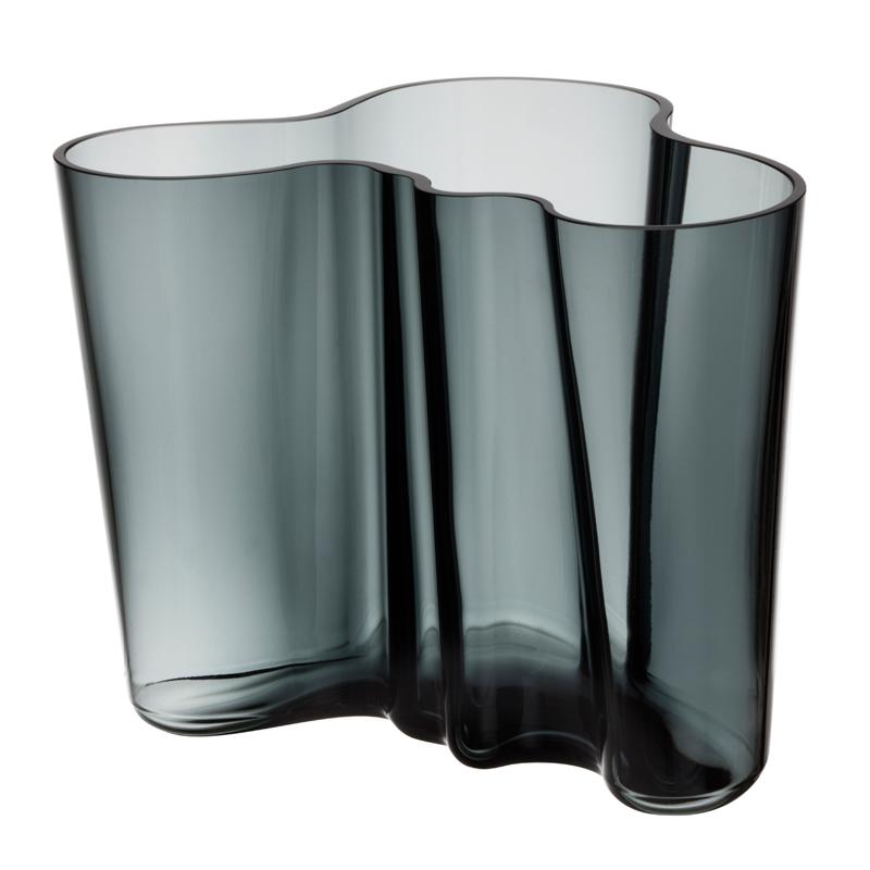 Vase – 16 cm - Grau Aalto Iittala