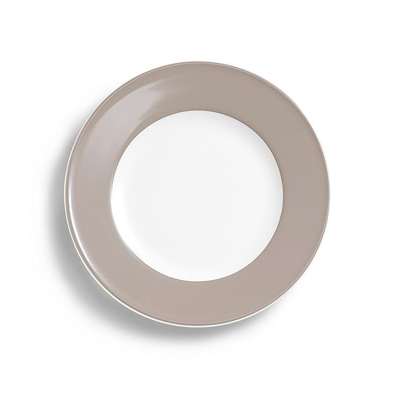 Teller flach 26 cm Fahne Solid Color Kiesel Dibbern