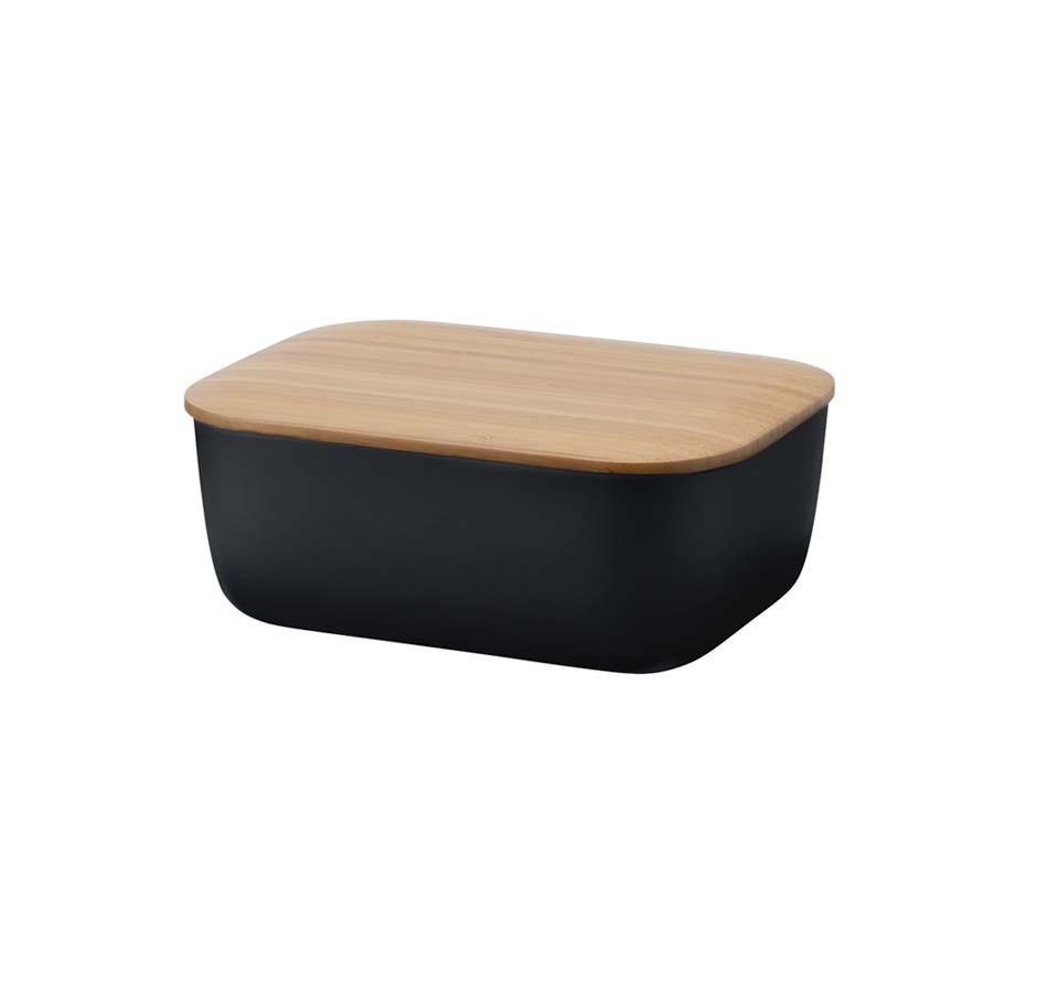BOX-IT Butterdose Rig-Tig Black Stelton