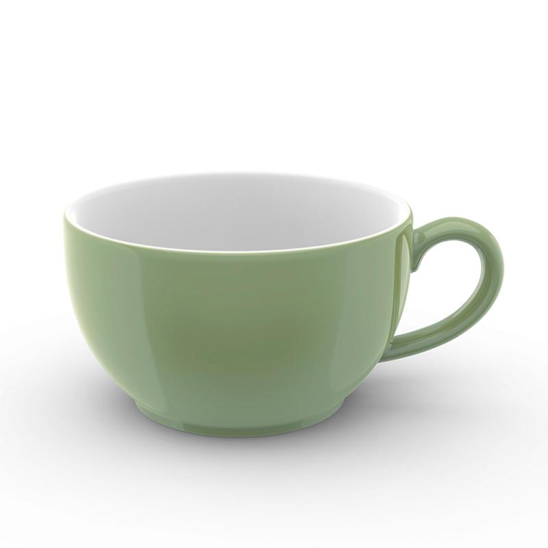 Cappuccino-Obertasse 0,30 l Solid Color Khaki Dibbern