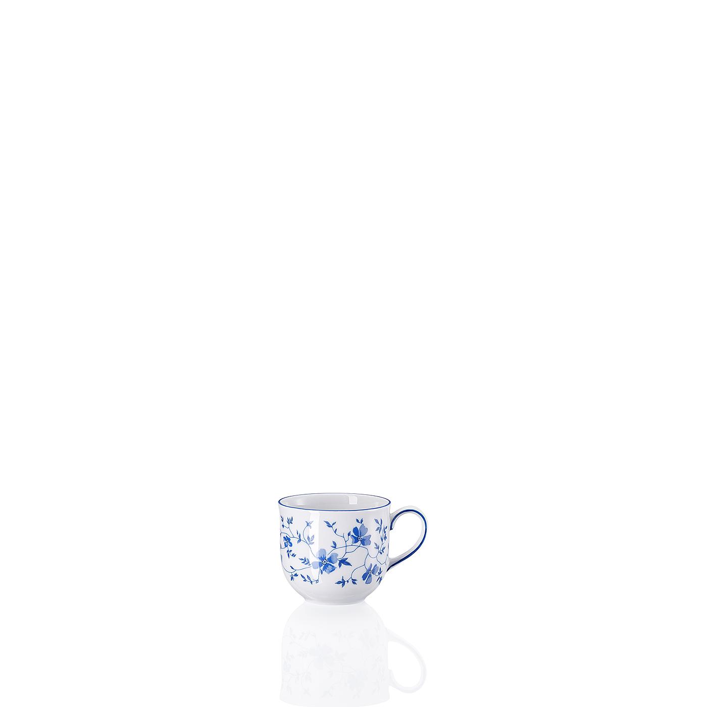 Espresso-/Mokka-Obertasse Form 1382 Blaublüten Arzberg