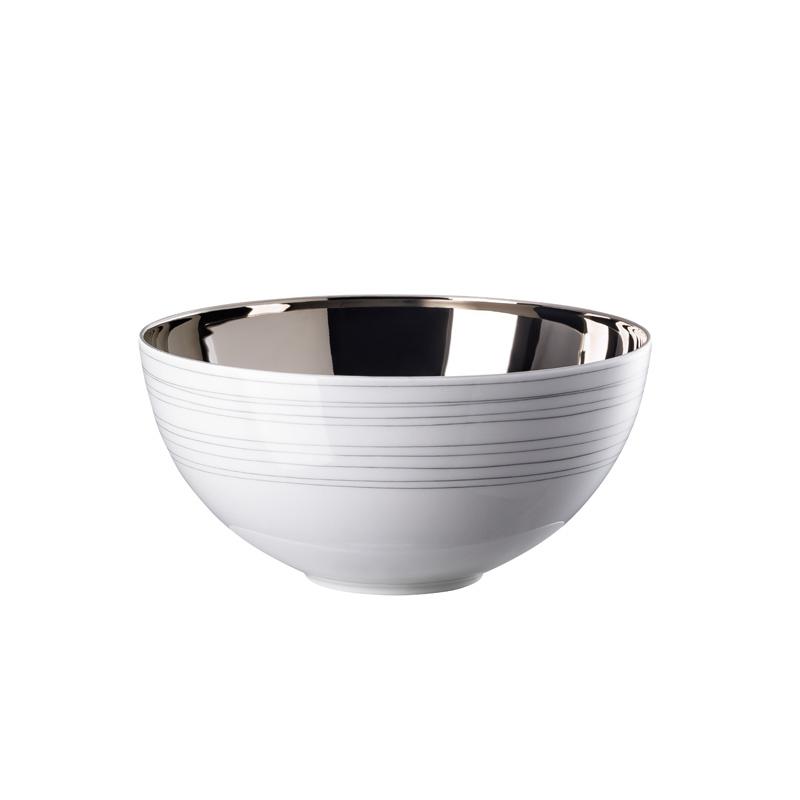Schüssel 19 cm innen Platin titanisiert TAC Gropius Stripes 2.0 Rosenthal Studio Line