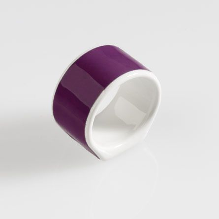 Serviettenring Solid Color Pflaume Dibbern