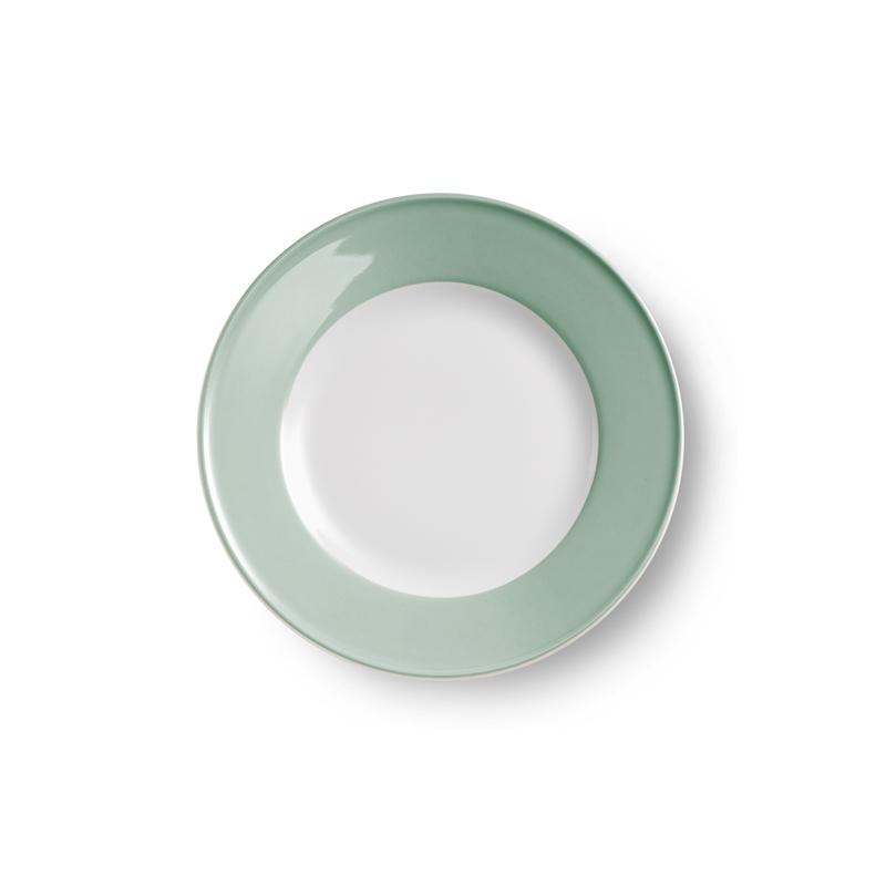 Teller flach 21 cm Fahne Solid Color Salbei Dibbern