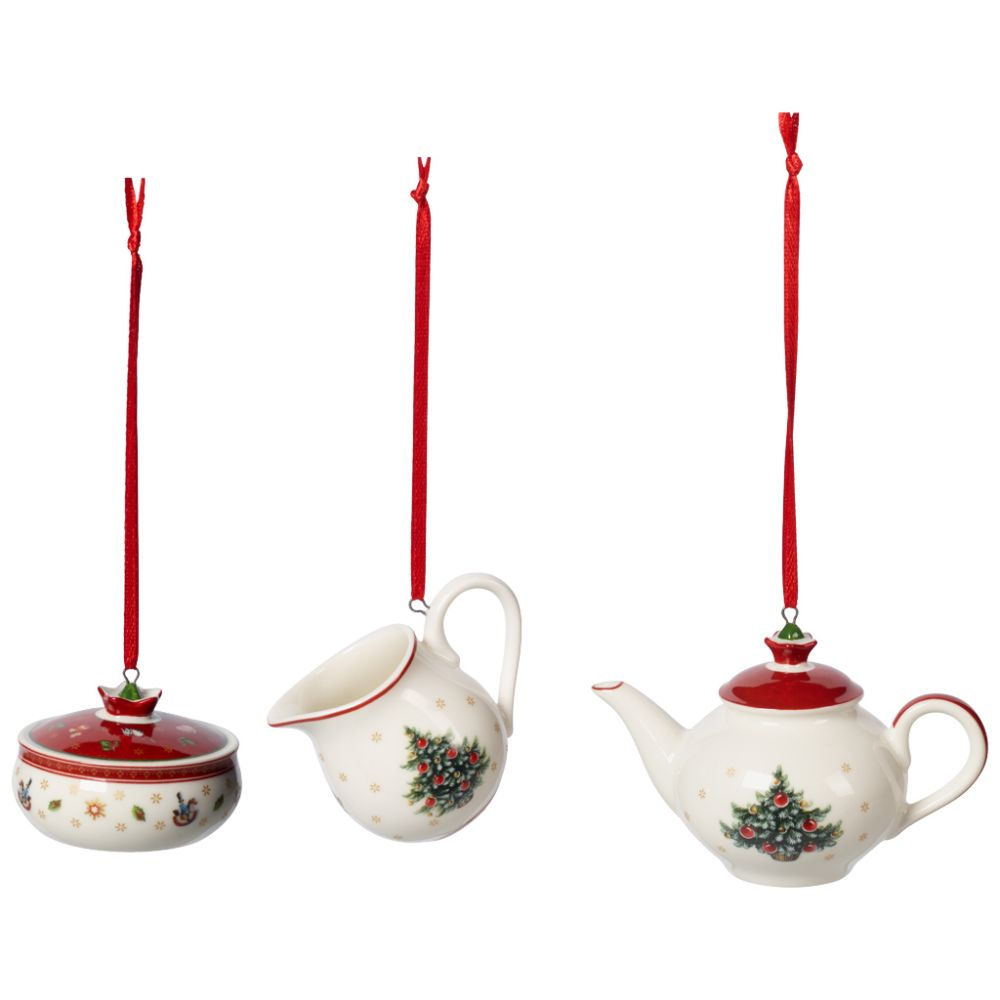 Ornamente Kaffeeset 3tlg. 6,3cm Toy's Delight Decoration Villeroy und Boch