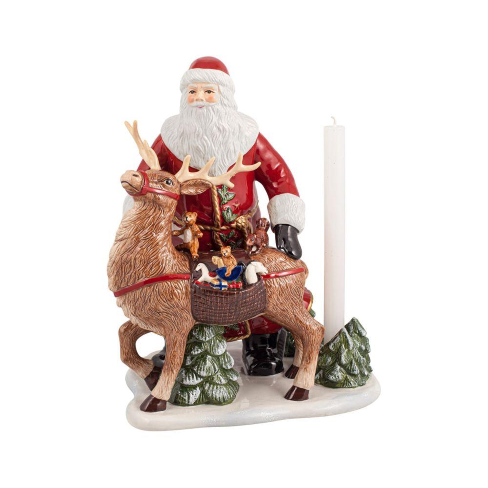 Santa mit Hirsch 30x24x35cm Christmas Toys Memory Villeroy und Boch