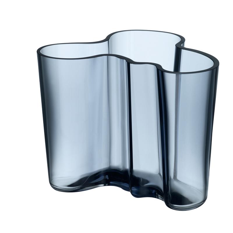 Vase – 12 cm - Regenblau Aalto Iittala