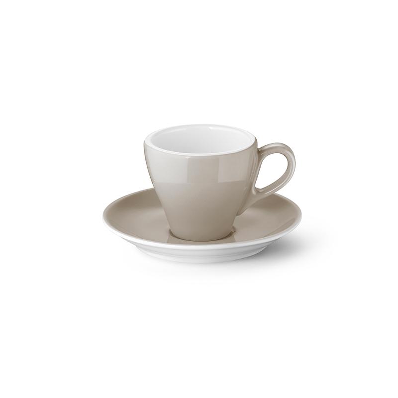 Espresso-Obertasse 0,09 l Classico Solid Color Kiesel Dibbern