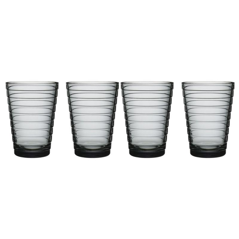 Glas - 330 ml - Grau - 4 Stück Aino Aalto Iittala