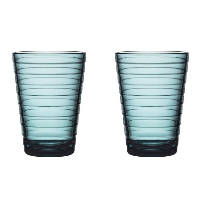 Glass – 330 ml - Seeblau - 2 Stück Aino Aalto Iittala