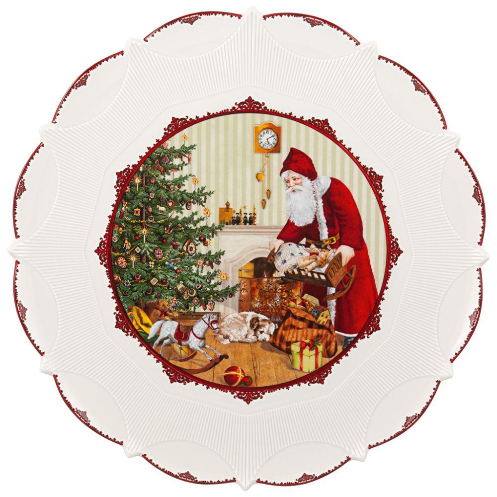 Gebäckteller gr., Santa bringt Geschenke Toy's Fantasy Villeroy und Boch
