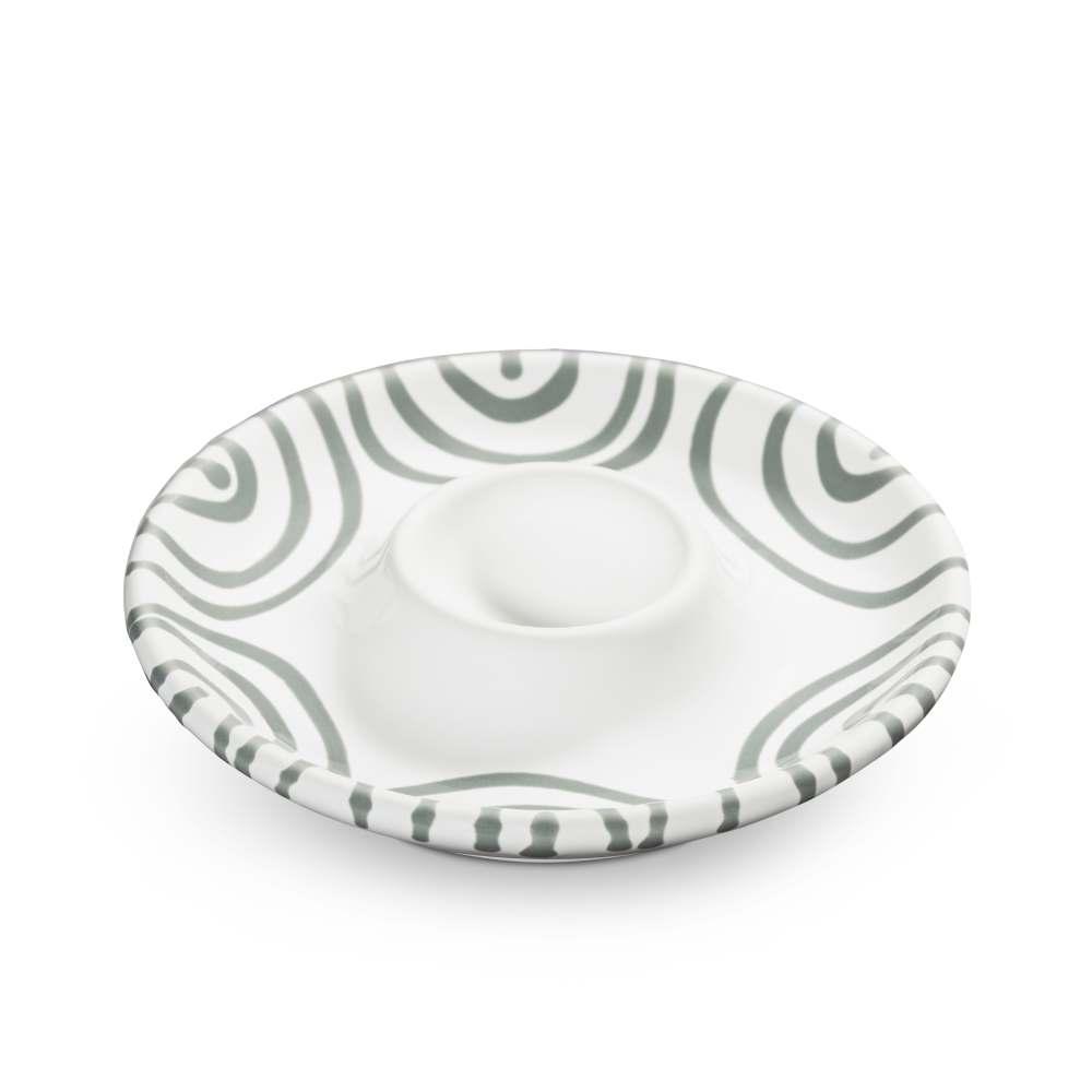 Eierbecher (Ø 12 cm) Graugeflammt Gmundner Keramik