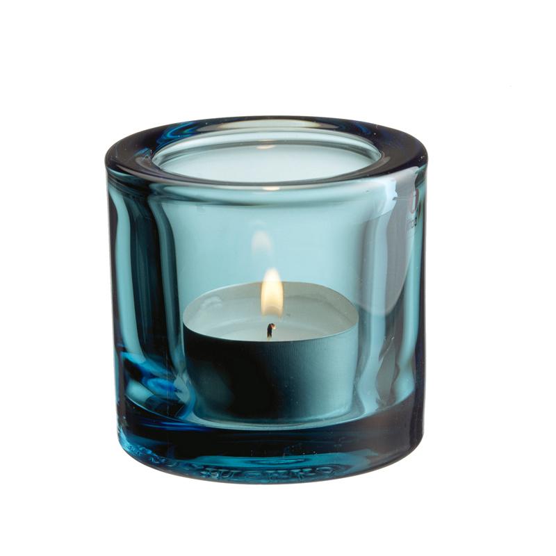 Windlicht – 6 cm - Seeblau Kivi votives Iittala