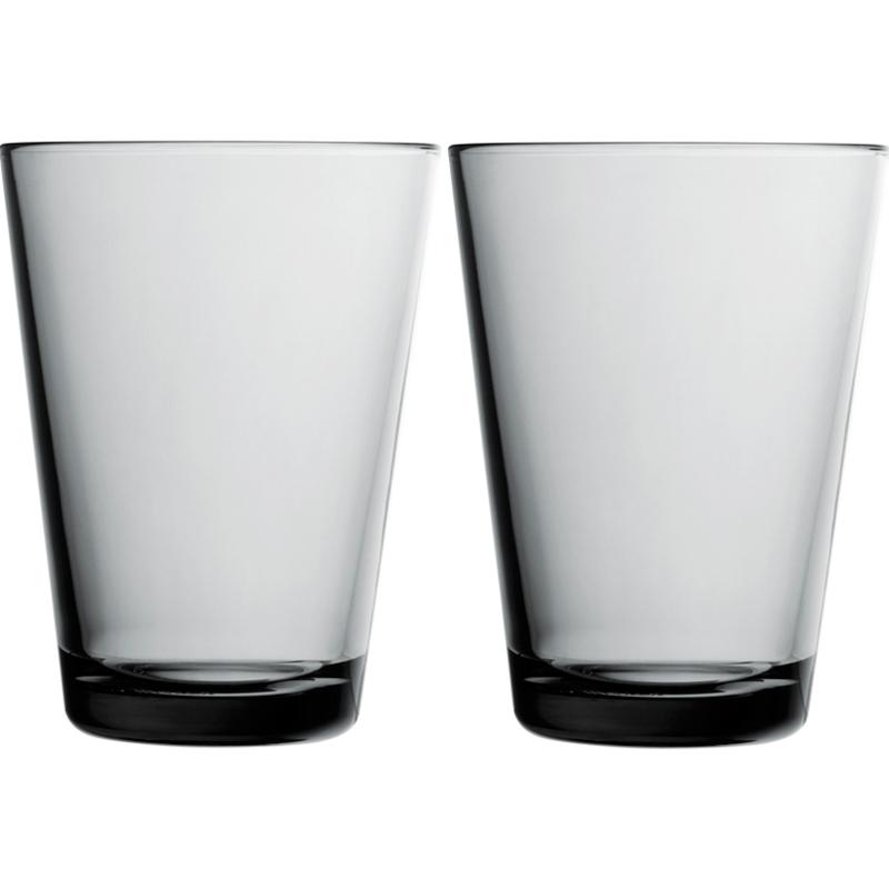 Glas – 400 ml - Grau - 2 Stück Kartio Iittala