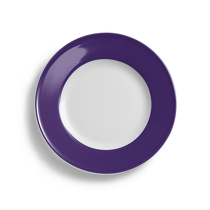 Teller flach 26 cm Fahne Solid Color Violett Dibbern