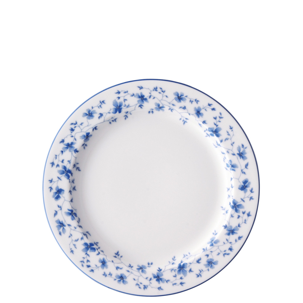 Frühstücksteller 22 cm/Fa Form 1382 Blaublüten Arzberg