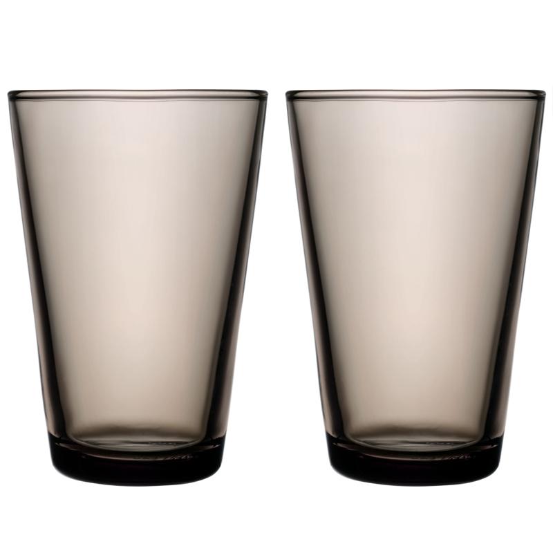 Glass - 400 ml - Sand - 2 Stück Kartio Iittala