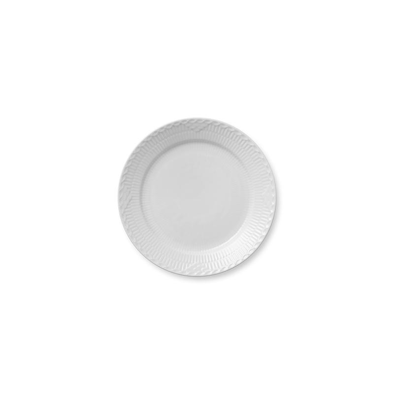Half Lace Speiseteller - 25 cm White Fluted Half Lace Royal Copenhagen