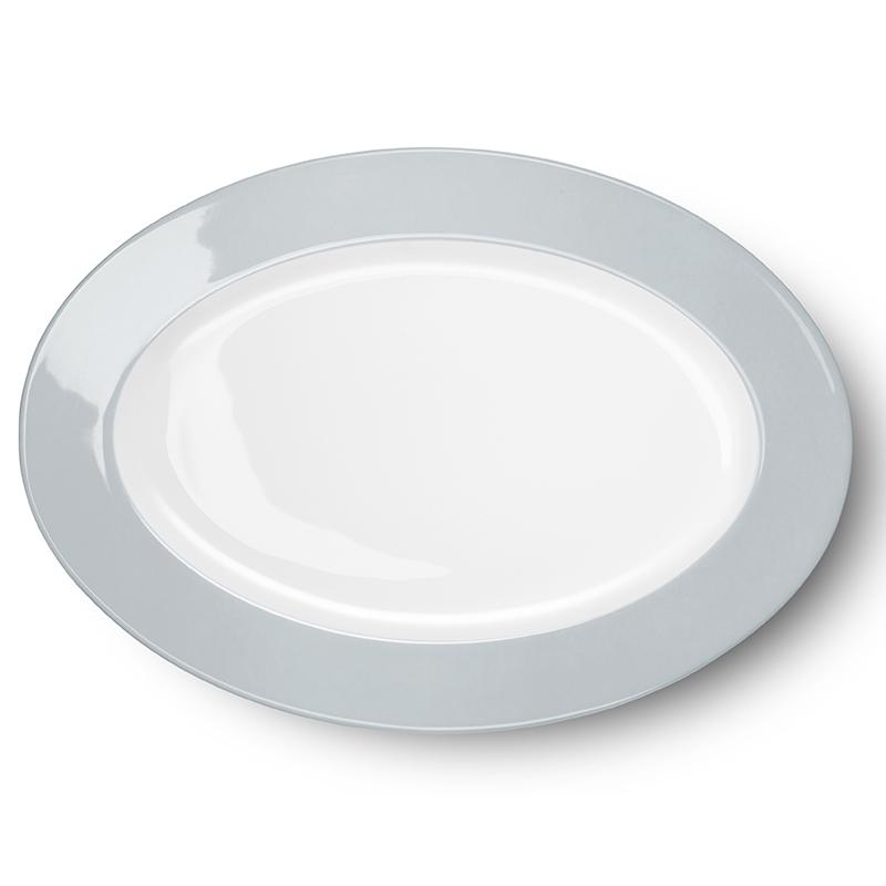 Platte oval 36 cm Solid Color Lichtgrau Dibbern