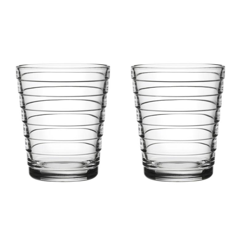 Glas – 220 ml - Klar - 2 Stück Aino Aalto Iittala