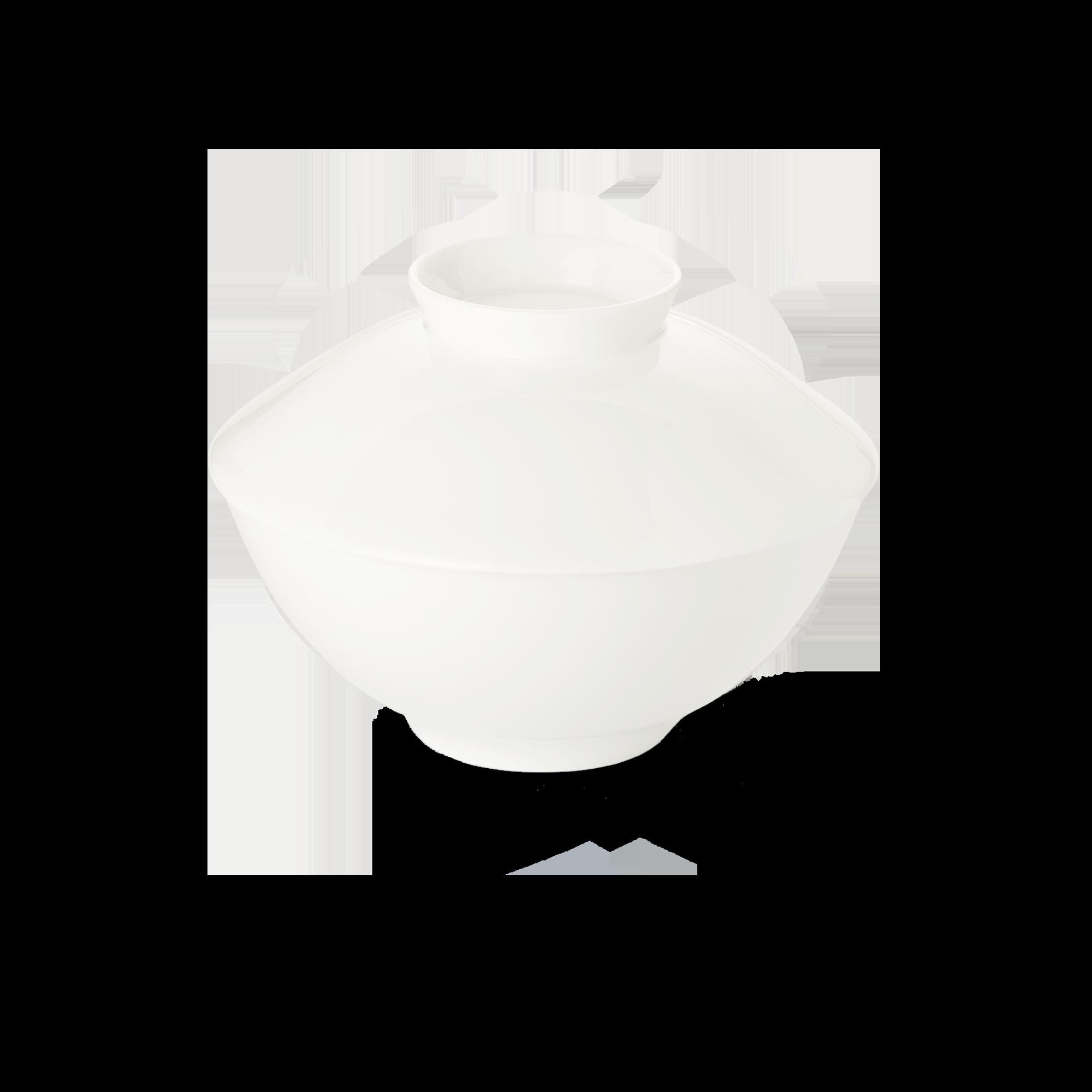 Deckel für Suppenschale 16 cm Fine Bone China Asia Line Weiss Dibbern