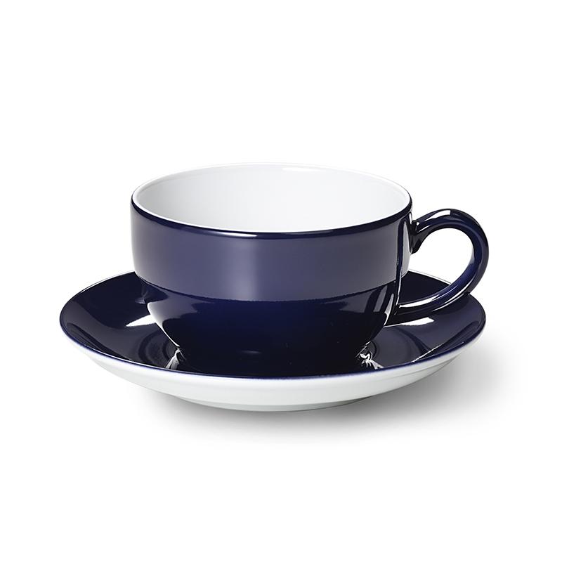 Cappuccino-Obertasse 0,30 l Solid Color Marine Dibbern