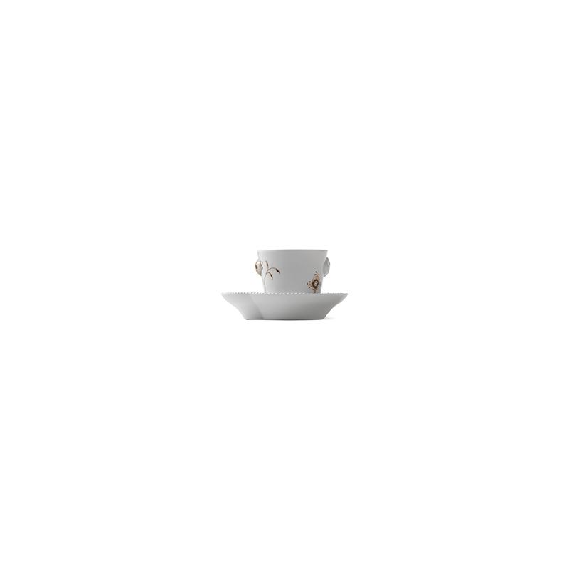 Espressotasse mit Untertasse - Mocca - 100 ml Multicoloured Elements Royal Copenhagen