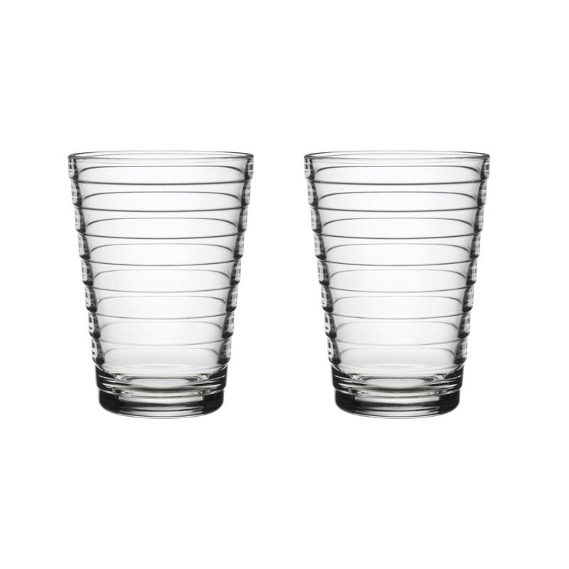 Glas - 330 ml - Klar - 2 Stück Aino Aalto Iittala