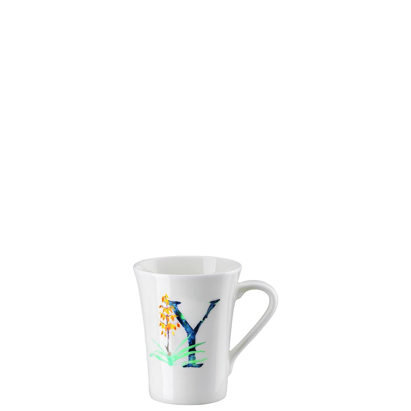 Becher mit Henkel Flower Alphabet Y-Yucca Hutschenreuther