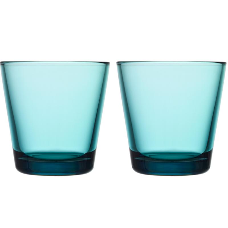 Glass – 210 ml - Seeblau - 2 Stück Kartio Iittala