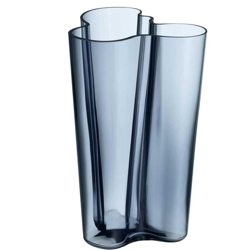 Finlandia Vase – 25,1 cm - Regenblau Aalto Iittala