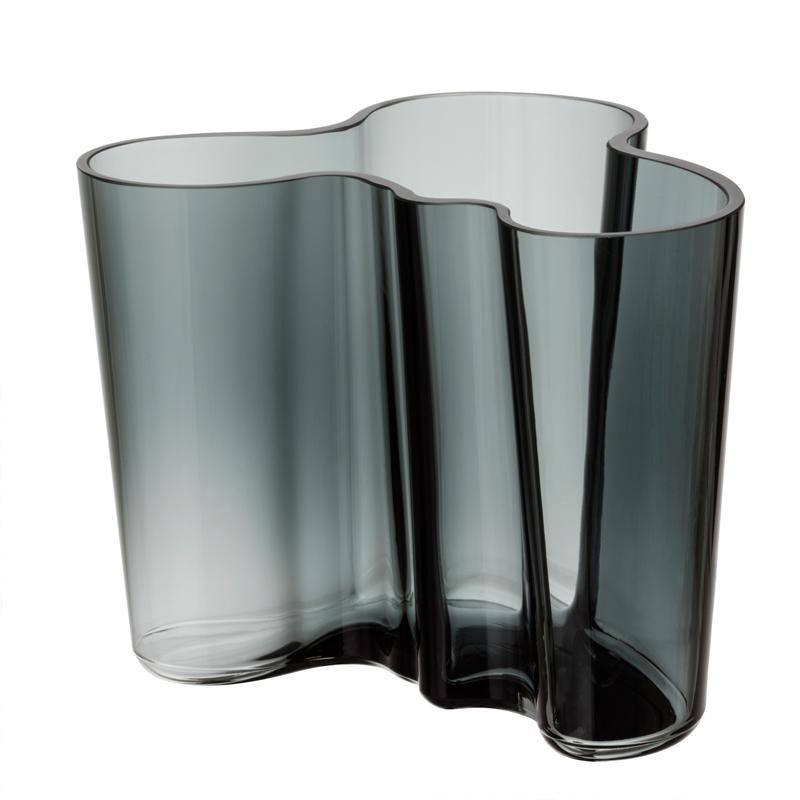 Vase – 12 cm - Grau Aalto Iittala