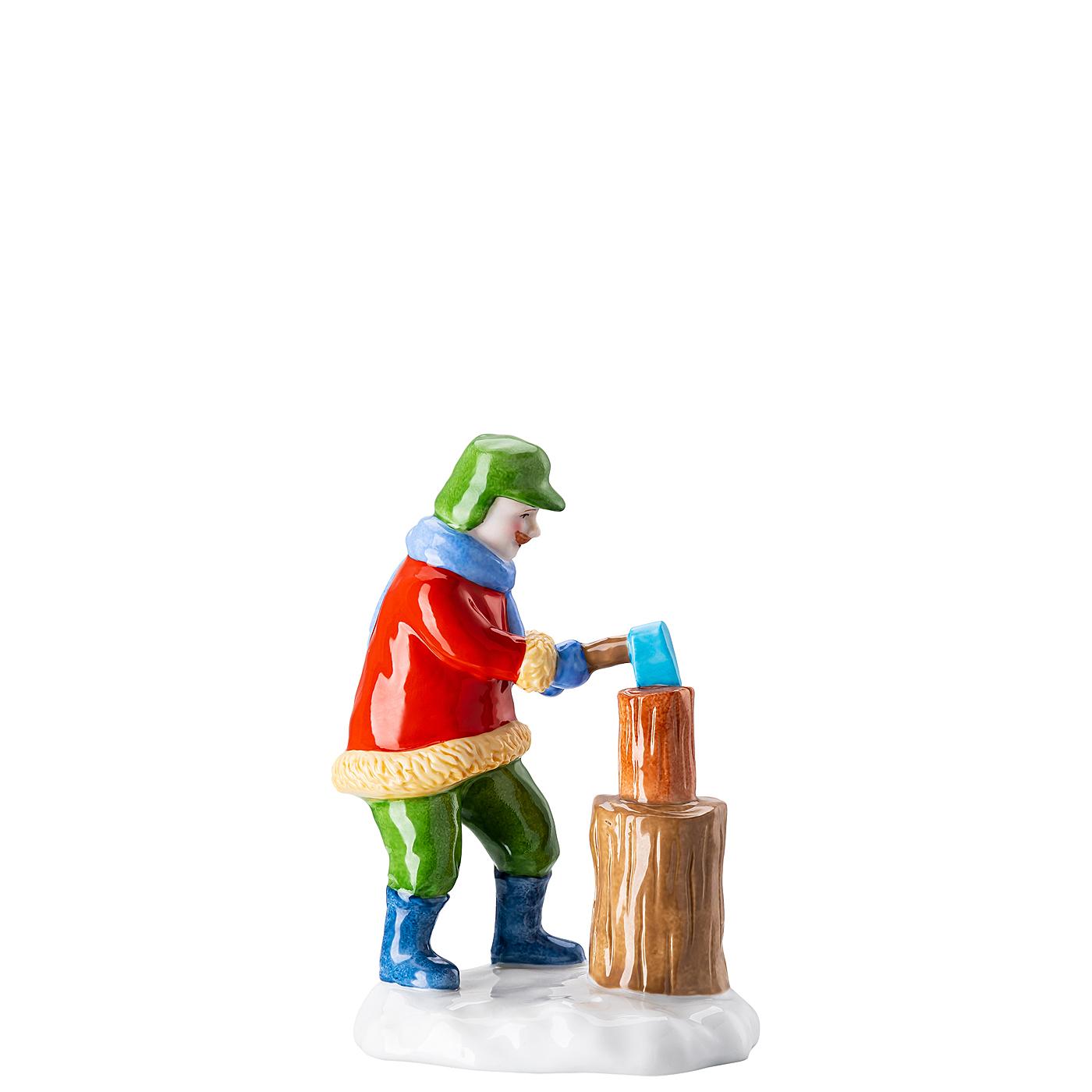 Holzfäller Figuren Weihnachtsbäckerei Hutschenreuther