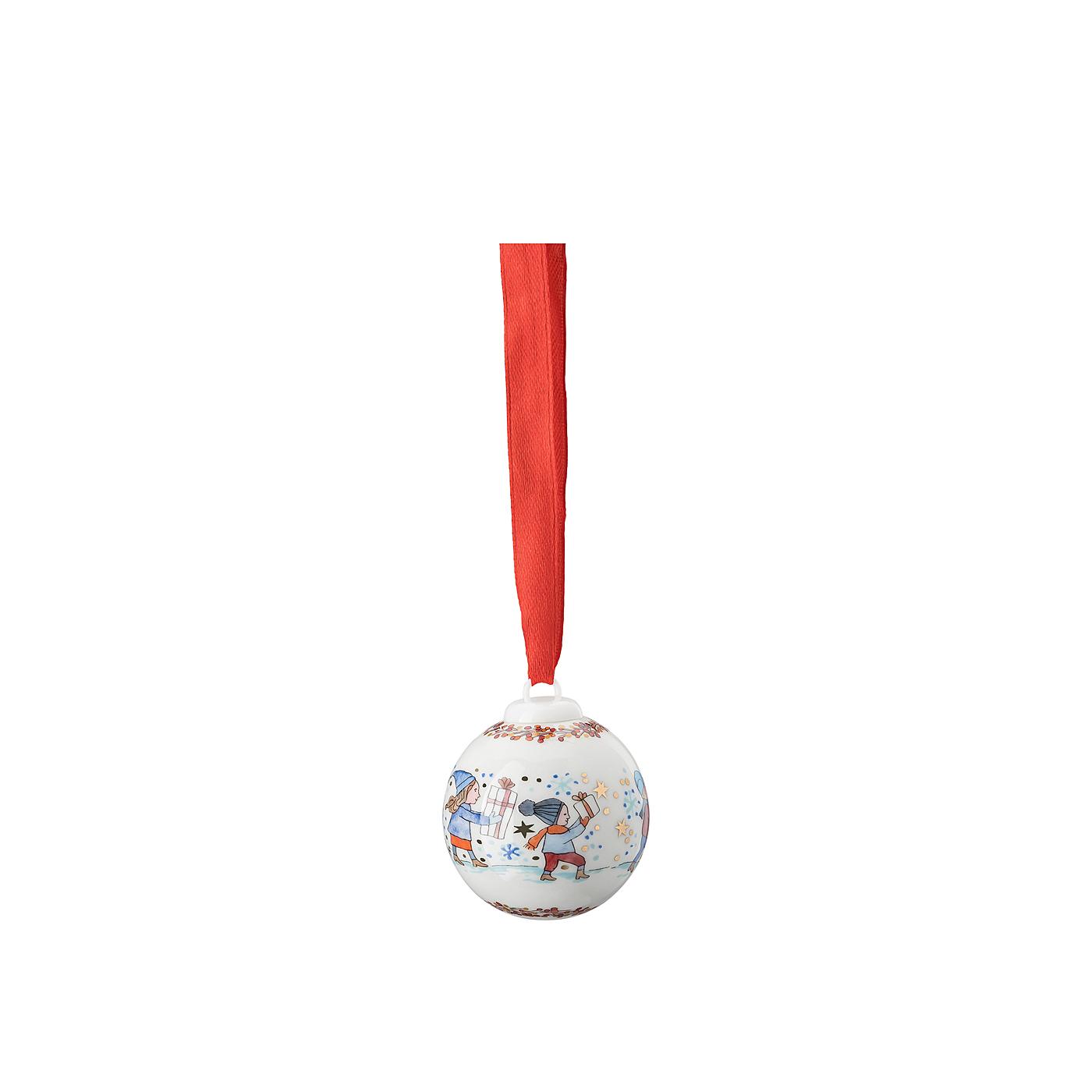 Porzellan-Minikugel Sammelkollektion 21 Kinder mit Hund Hutschenreuther