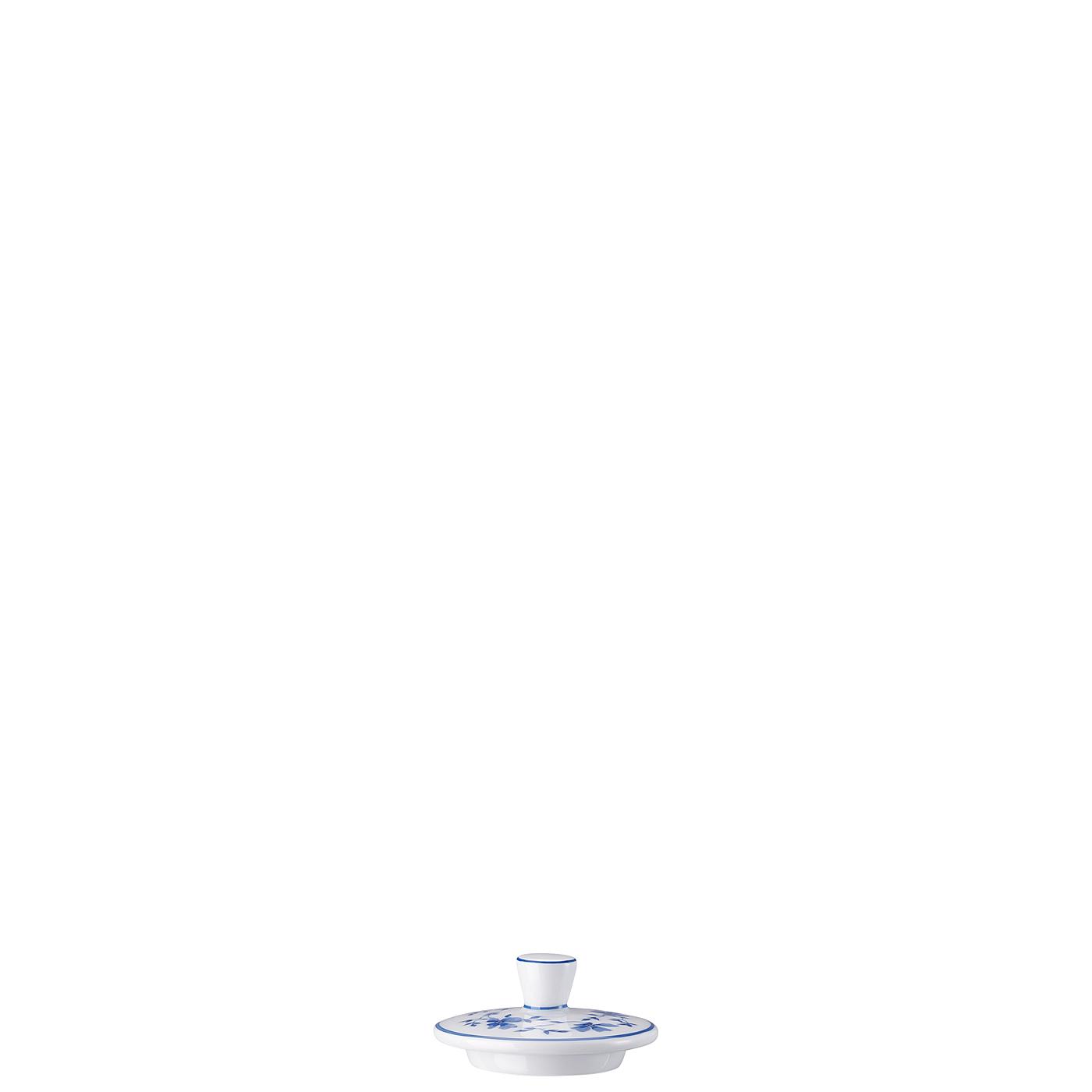 Zuckerdose 6 P. Deckel Form 1382 Blaublüten Arzberg