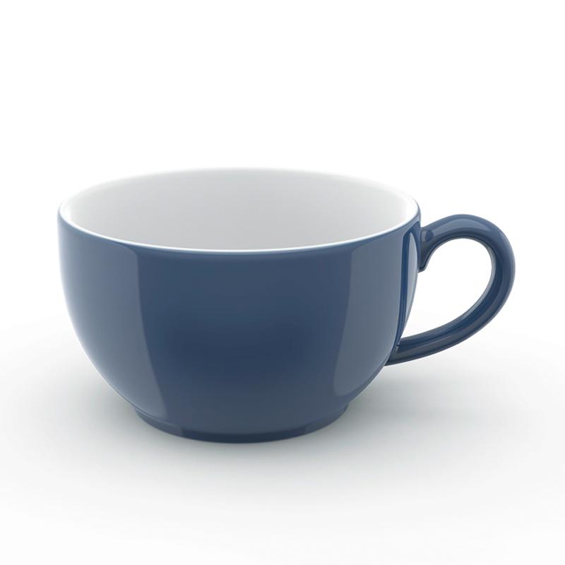 Cappuccino-Obertasse 0,30 l Solid Color Indigo Dibbern