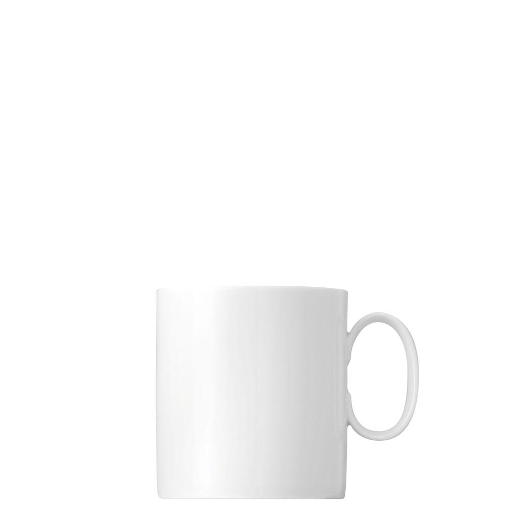 Kaffee-Obertasse groß Medaillon Weiss Thomas Porzellan