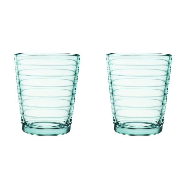 Glass – 220 ml – Wassergrün - 2 Stück Aino Aalto Iittala