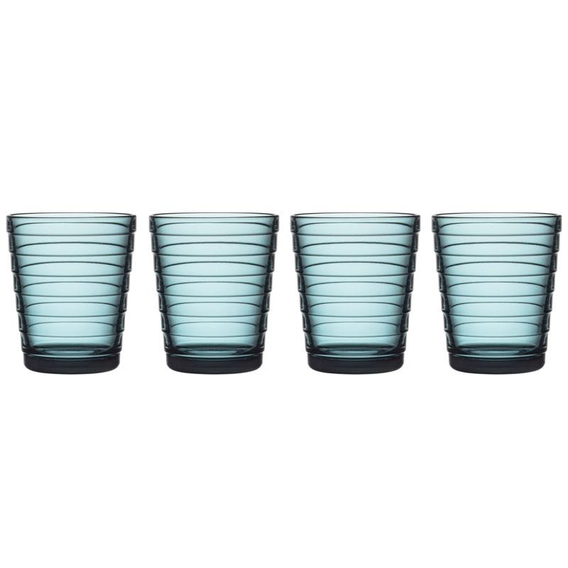Glas – 220 ml - Seeblau - 4 Stück Aino Aalto Iittala