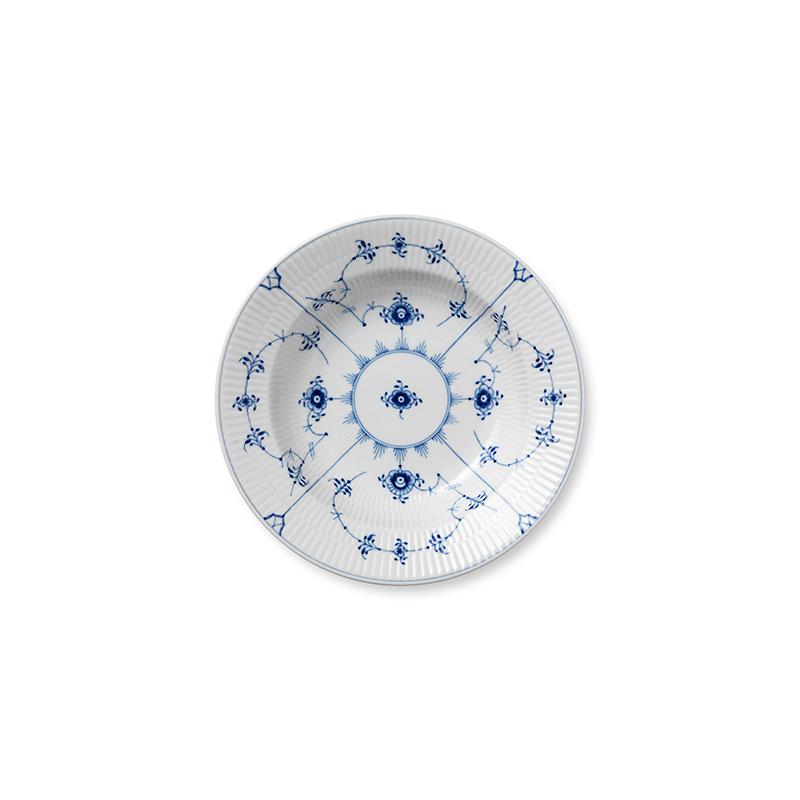 Suppenteller - 23 cm Blue Fluted Plain Royal Copenhagen