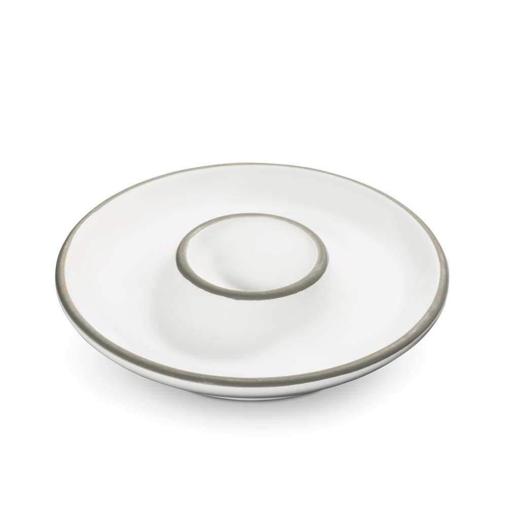 Eierbecher (Ø 12 cm) Grauer Rand Gmundner Keramik