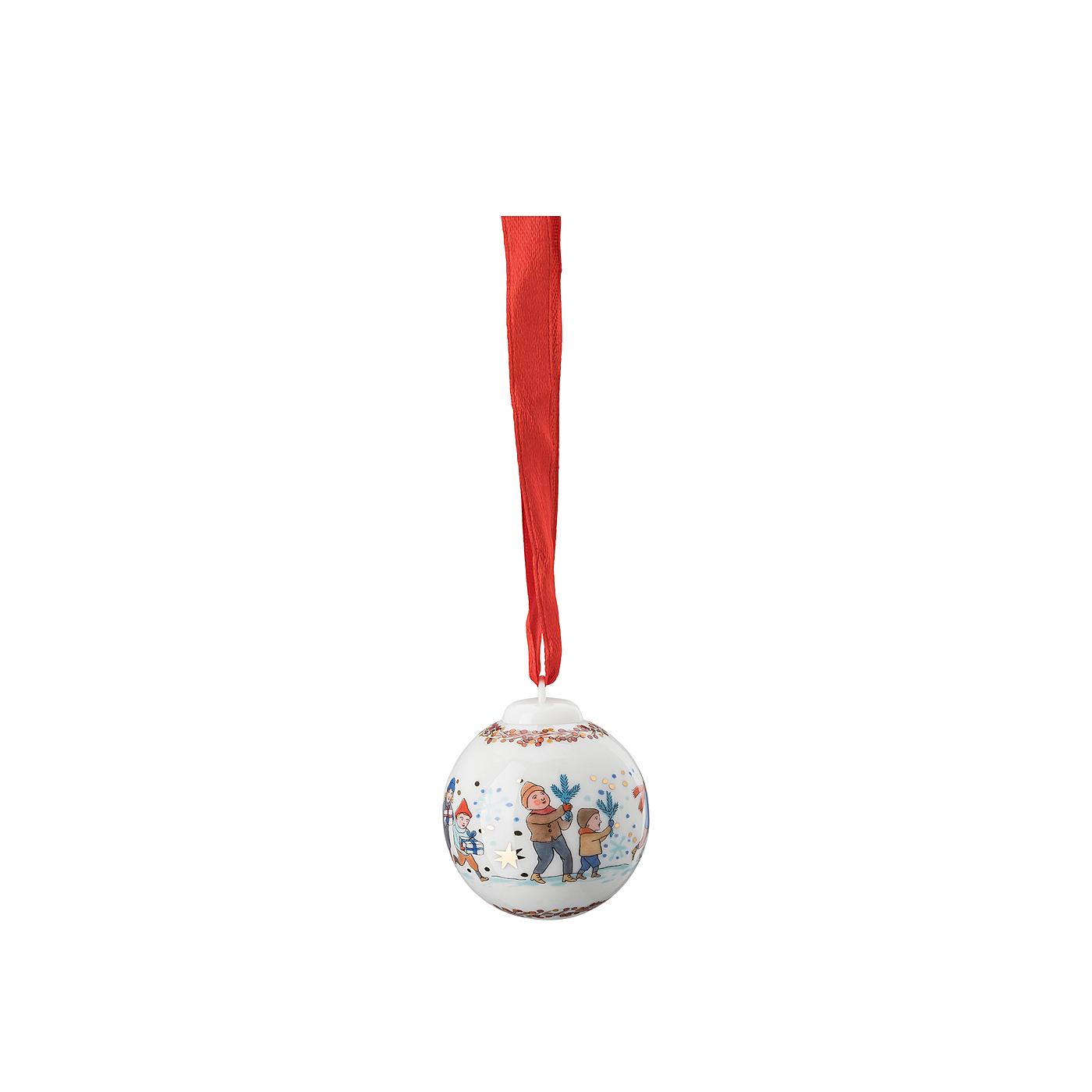 Porzellan-Minikugel Sammelkollektion 21 Kinder mit Zweigen Hutschenreuther