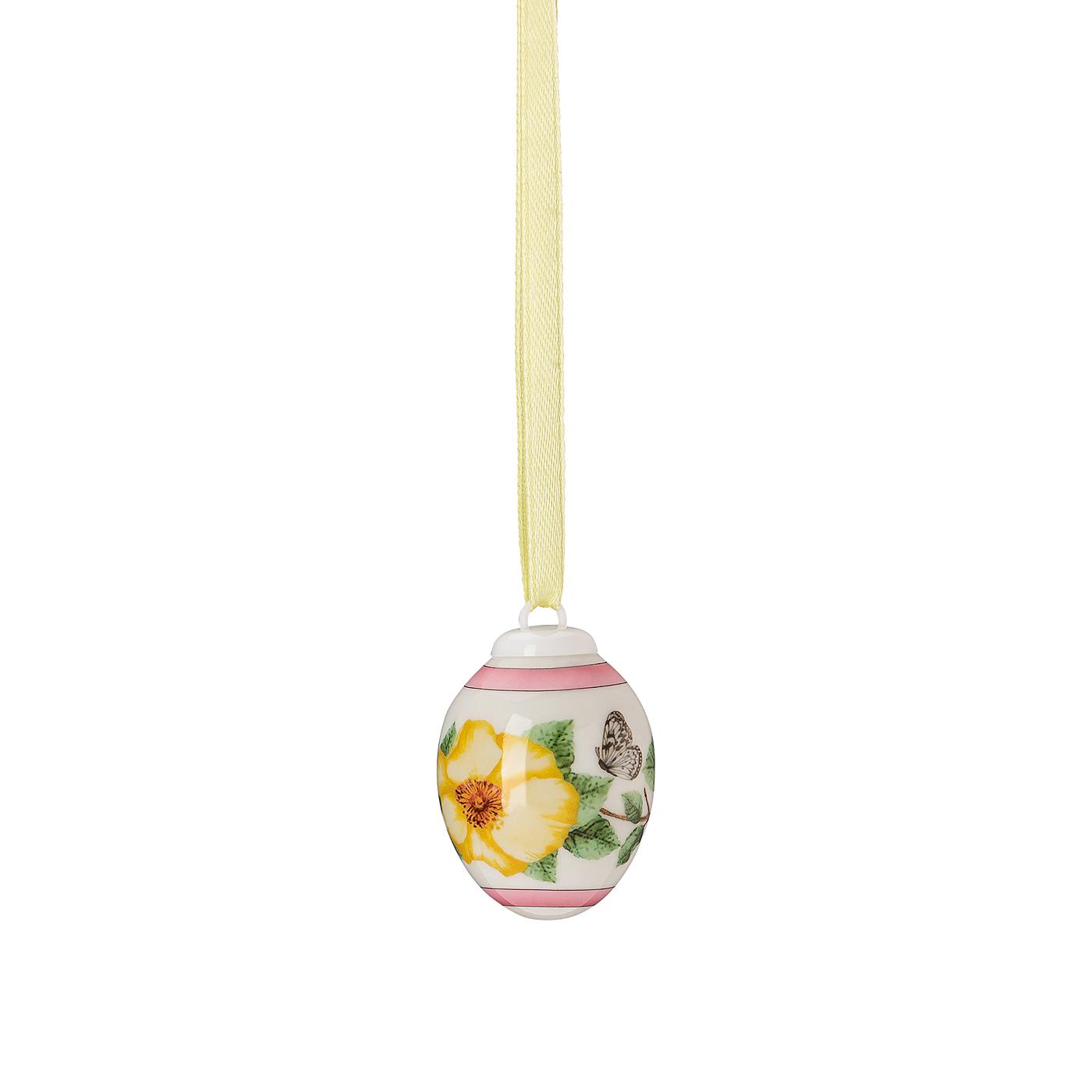 Porzellan-Mini-Ei Frühlingswiese Heckenrose - gelb Hutschenreuther