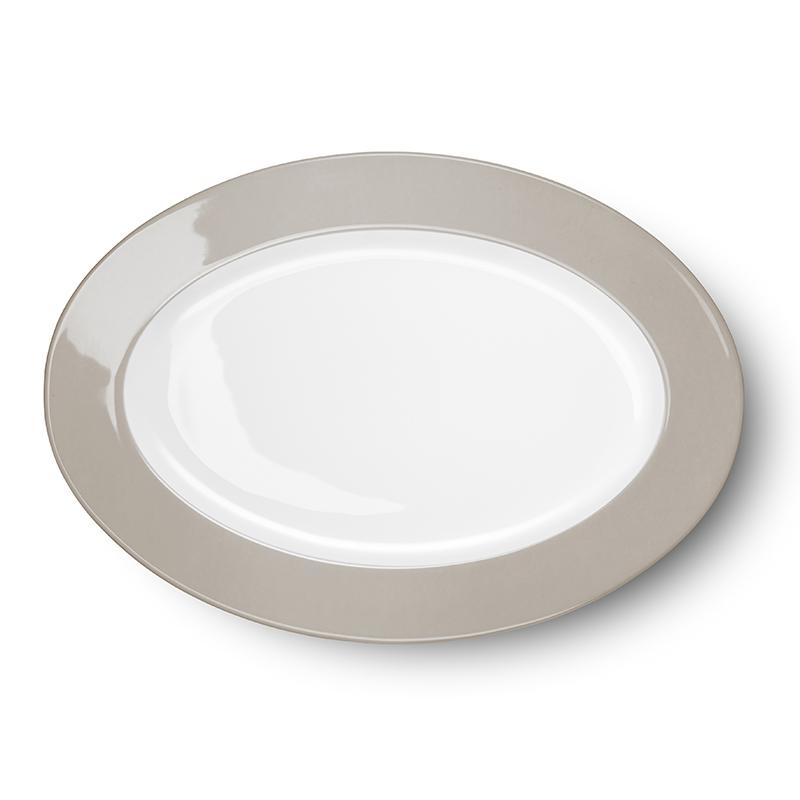 Platte oval 33 cm Solid Color Kiesel Dibbern