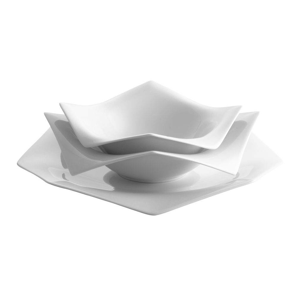 Set 3-tlg. A La Carte-Origami Weiss Rosenthal Studio Line